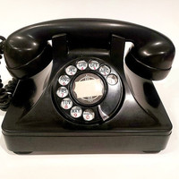 Black Rotary Phone -  1946 North Electric Galion Phone