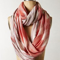 Ikat Sunset Infinity Scarf by Anthropologie Peach One Size Scarves