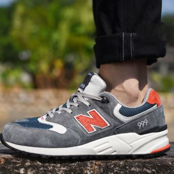 New Balance ML999MMT Fashion Running casual shoes Grey orange N
