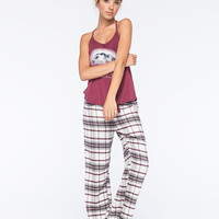 COSMIC LOVE Plaid Womens Flannel Pants | Sleepwear