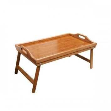 lipper bamboo bed tray with folding legs 3