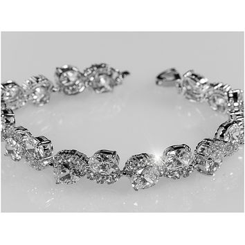 Kendra Swirl Oval Cluster Statement Bracelet – 7.25in
