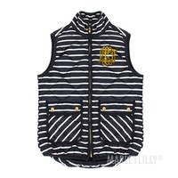 Monogrammed Navy Striped Vest | Marley Lilly