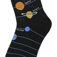 Foot Traffic Planets Women's Socks