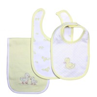 Little Me Unisex Baby Bib and Burp Cloth Yellow Duck Pattern Set Image - ltm4117-78-pri-fea - Type 7