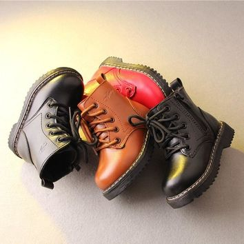 New Arrival Children Outdoors Walking Shoes Kids Original DR Boost Breathable Boy Girl Waterproof Leather Martens Sneakers