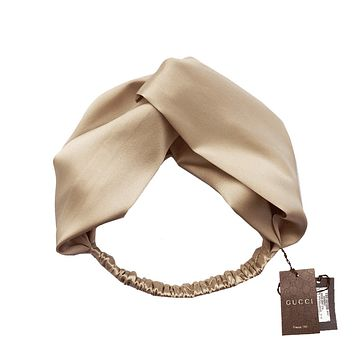 Gucci autumn and winter high-end fashion hair band Beige + gold