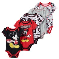 Disney's Mickey Mouse 5-pk. ''Just Chillin'' Bodysuits - Baby Boy, Size: