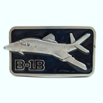 1984 B-1B Belt Buckle, Vintage Warbirds Belt Buckle, Buckle Connection Airplane Bomber Buckle MCMLXXXIV, Men's Belt Buckle, Stocking Stuffer