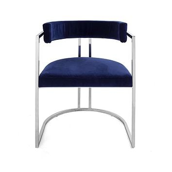 Worlds Away Mona Barrel Back Dining Chair