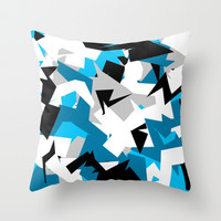 Ice Camo Throw Pillow by Michael Hewitt
