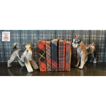 Antique Collection / Trio of Dog Figurines Schnauzer Terrier Hound Pup Made in Japan