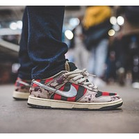Nike DUNK LOW PRO SB FREDDY KRUEGER Low-Top Colorblock Canvas Sneakers Shoes