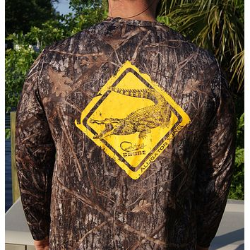 Alligator Crossing Camo UPF Long Sleeve Shirt