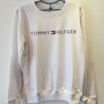 DCCKW2M Tommy Hilfiger : Women Fashion Casual Long Sleeve Sport Top Sweater Pullover Sweatshirt