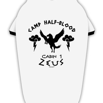 Camp Half Blood Cabin 1 Zeus Stylish Cotton Dog Shirt by TooLoud