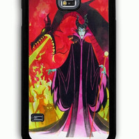 Samsung Galaxy S5 Case - Rubber (TPU) Cover with Disney Maleficent Rubber Case Design