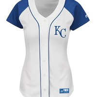 Kansas City Royals Womens White Fashion Replica Jersey Jersey