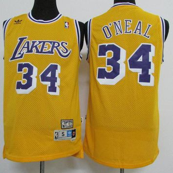 La Lakers #34 Shaquille O'neal Retro Swingman Jersey | Best Deal Online