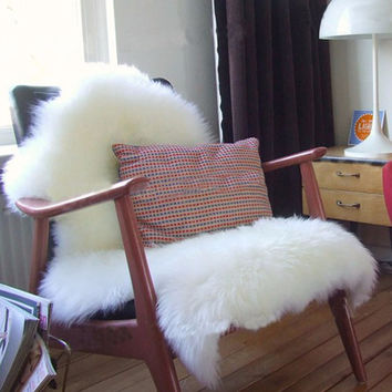 Soft Faux Sheepskin Chair Cover