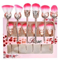 6pcs Rose Shape Makeup Brushes Set