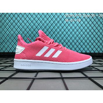 HCXX A029 Adidas 2018 Stan Smith Breathable Mesh Causal Running Shoes Pink