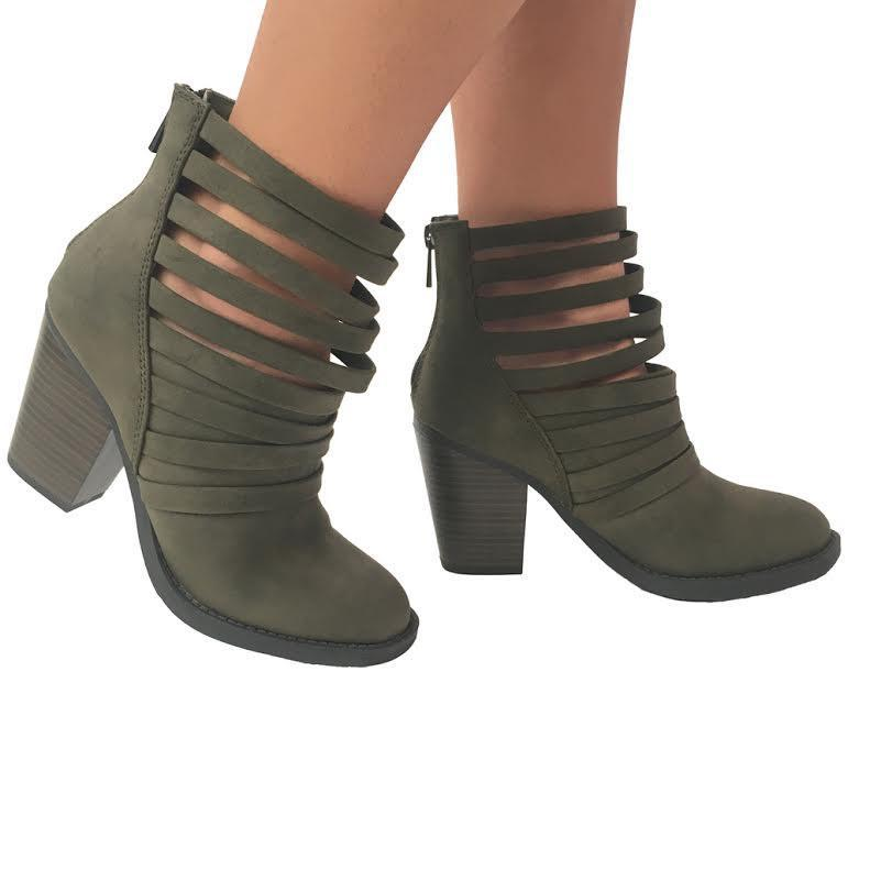 bd8229c726 Wrap Around Suede Strappy Ankle Booties from Dainty Hooligan