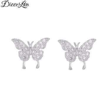 New Arrivals 925 Sterling Silver Zircon Butterfly Earrings For Women Fashion Wedding Jewelry sterling-silver-jewelry pendientes
