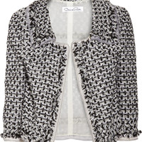 Oscar de la Renta for THE OUTNET Bouclé-tweed jacket – 0% at THE OUTNET.COM