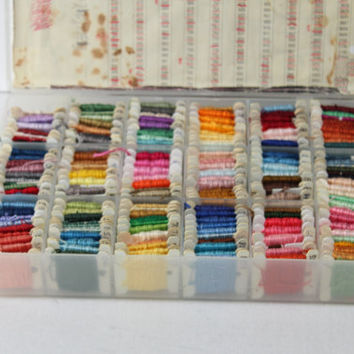 Box of DMC Embroidery Floss , Cross Stitch Thread , 170 Cross Stitch Colors , Needlecraft Cross Stitch Supply