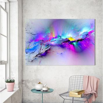Printed Oil Painting Wall Pictures For Living Room Home Decor Abstract Clouds Colorful Canvas Art Home Decor  MEC