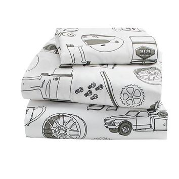 Pit Crew Toddler Sheet Set