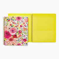 dahlia large spiral notebook