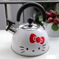 Hello Kitty Stainless Steel Kettle Water Jug Boiler Pot White 1pc