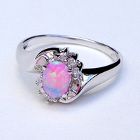 Pink Opal Estate Ring