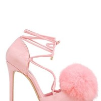 Privileged | Bel-Air Pompom Strappy Pump | Nordstrom Rack