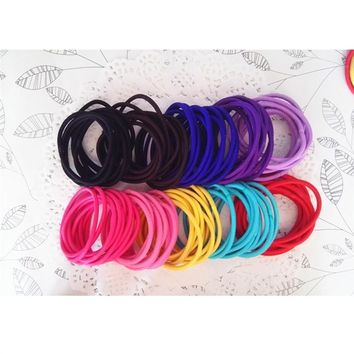 Nylon Rubber Band Hair Ties 50 Pcs