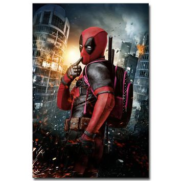 Deadpool Dead pool Taco NICOLESHENTING  Wade Wilson Art Silk Poster Print 13x20 32x48 inch Movie Comic Pictures Living Room Decor DO03 AT_70_6