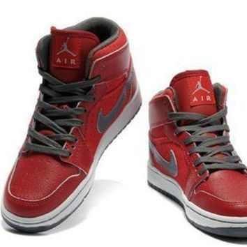 Cheap Air Jordan 1 Retro Black Red Grey Shoes Online