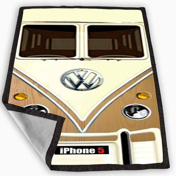Wood VW Minibus Blanket for Kids Blanket, Fleece Blanket Cute and Awesome Blanket for your bedding, Blanket fleece *