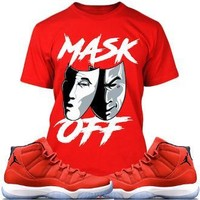 Jordan 11 Win Like 96 Gym Red Sneaker Tees Shirt - MASK OFF