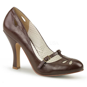 Pin Up Couture Brown Smitten Pumps