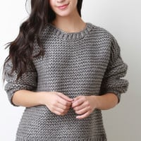 Chunky Thick Knit Oversize Sweater