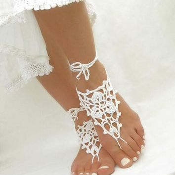 Toe Ring Anklet Nude shoes Foot jewelry