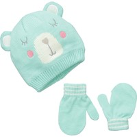 Carter's Baby Girls' Knit Bear Critter Hat Set