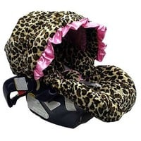 Baby Bella Maya Infant Car Seat Cover Pink Leopard
