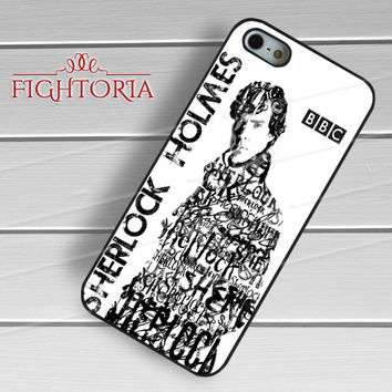 sherlock holmes typography-1naa for iPhone 6S case, iPhone 5s case, iPhone 6 case, iPhone 4S, Samsung S6 Edge