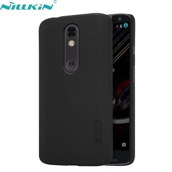 For Motorola MOTO X Force Case 5.4'' Droid Turbo 2 XT1580 XT1581 XT1585 Case NILLKIN Hard PC Shell Frosted Back Cover Phone Case