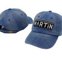 Martin Adjustable - ( Blue Jean)  Dad Hat