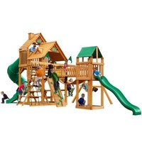 Gorilla Playsets Treasure Trove with Amber Posts Cedar Playset-01-1021-AP - The Home Depot